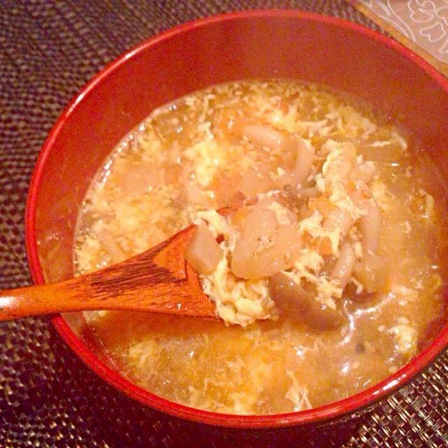 生姜でかなりポカポカになります! - 6件のもぐもぐ - 生姜とお野菜たっぷり!デトックス中華スープ by m2chibi