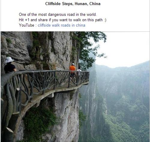 Dangerous walk in China