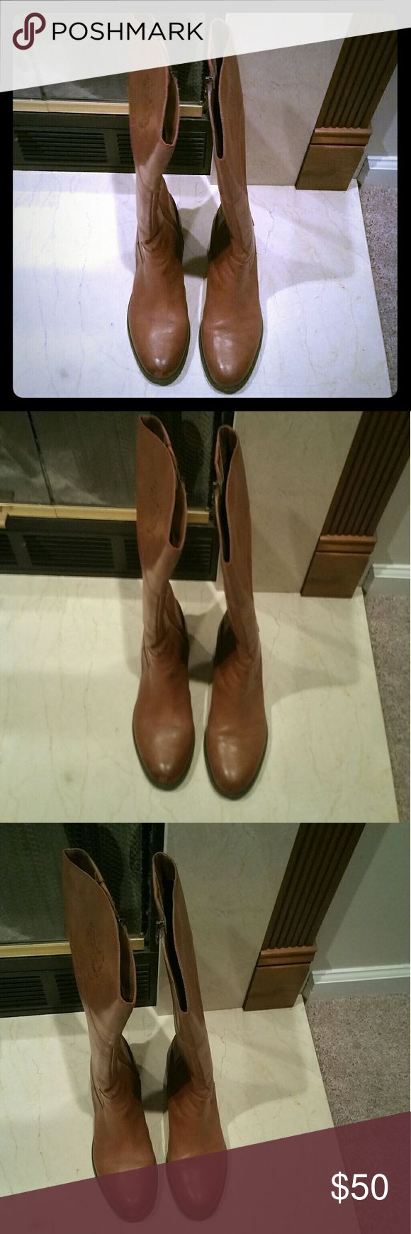 Rider boots Camel color Etienne Aigner Shoes Heeled Boots