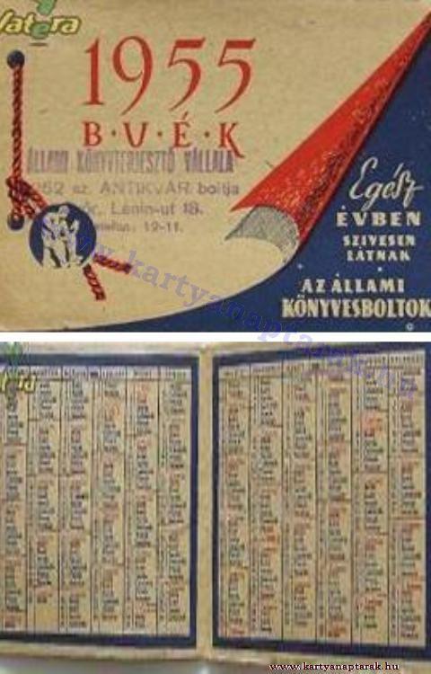 1955 - 1955_0026 - Régi magyar kártyanaptárak