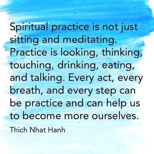 Any activity done with full awareness