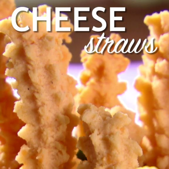 Grab a cookie press and you're on your way to these easy cheese straws!