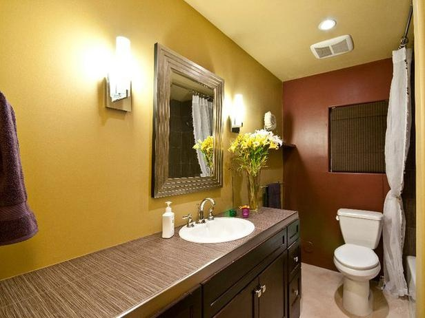 Best 25 yellow mediterranean bathrooms ideas only on for Brown and yellow bathroom ideas