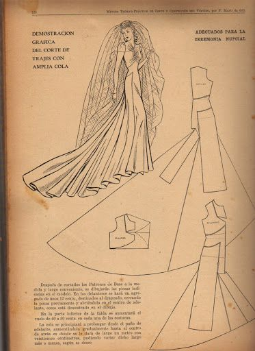Vintage 1940s Wedding Dress Pattern Draft | Patternmaking for Fashion Design | How to Draft Sewing Patterns | Pattern Fitting | How to Design Sewing Patterns