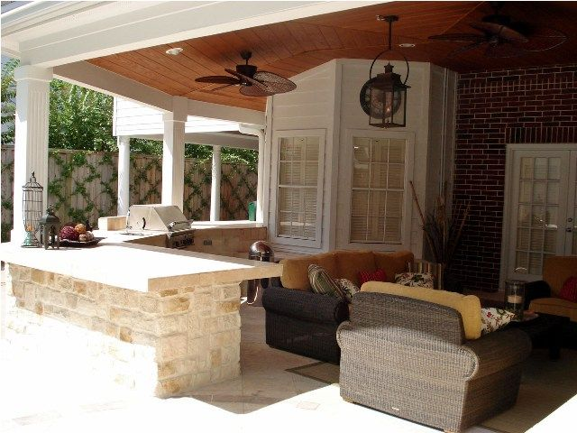 This Houston Covered Patio Is Perfect For Football Season