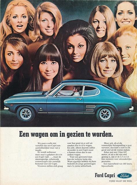 Ford Capri, die reden wij tussen 1974 en 1980. Hij was prachtig !!!!!