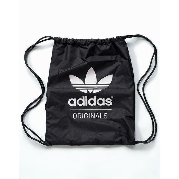 Adidas Originals Gymsack Classic (1,010 PHP) ❤ liked on Polyvore featuring bags, handbags, accessories, womens-fashion, adidas originals bag, zip bags, zipper purse, logo bags and shoulder strap handbags