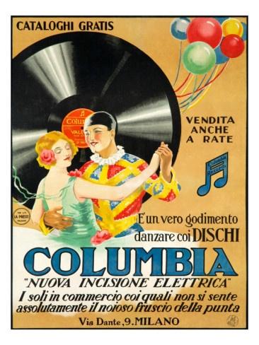 Vintage Columbia Records ad