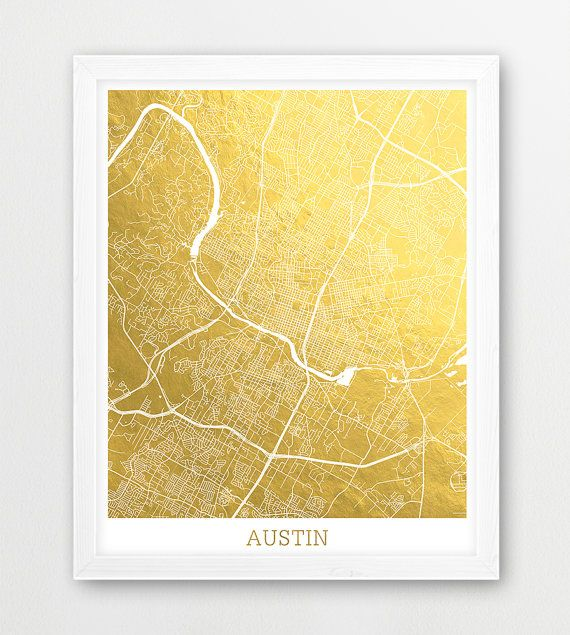► INSTANT DOWNLOAD: Austin Map Print, Austin City Street Map Poster, Austin Texas Gold Foil Texture, Urban Map Print, Modern Wall Art, Home Decor, Printable Art  SAVE 30%! - Add 3 or more prints to your cart and enter the coupon code SAVE30.  Print out this artwork from your home printer, your local print shop or online printing service to decorate your home or office. You can use any paper you like (matte, textured, gloss etc) and any style frame to mount it to your wall. Makes great last…