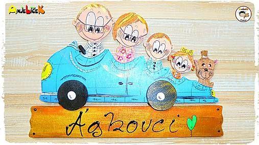 anjelicek / Menovka - rodinka v aute