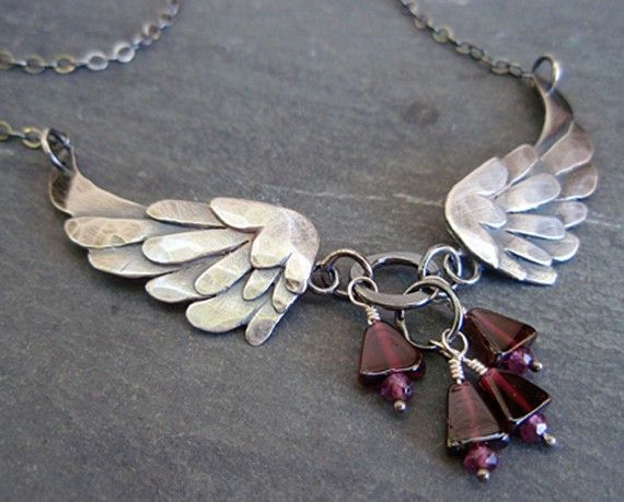 angel wing necklace by ArtitagianoJewelBox