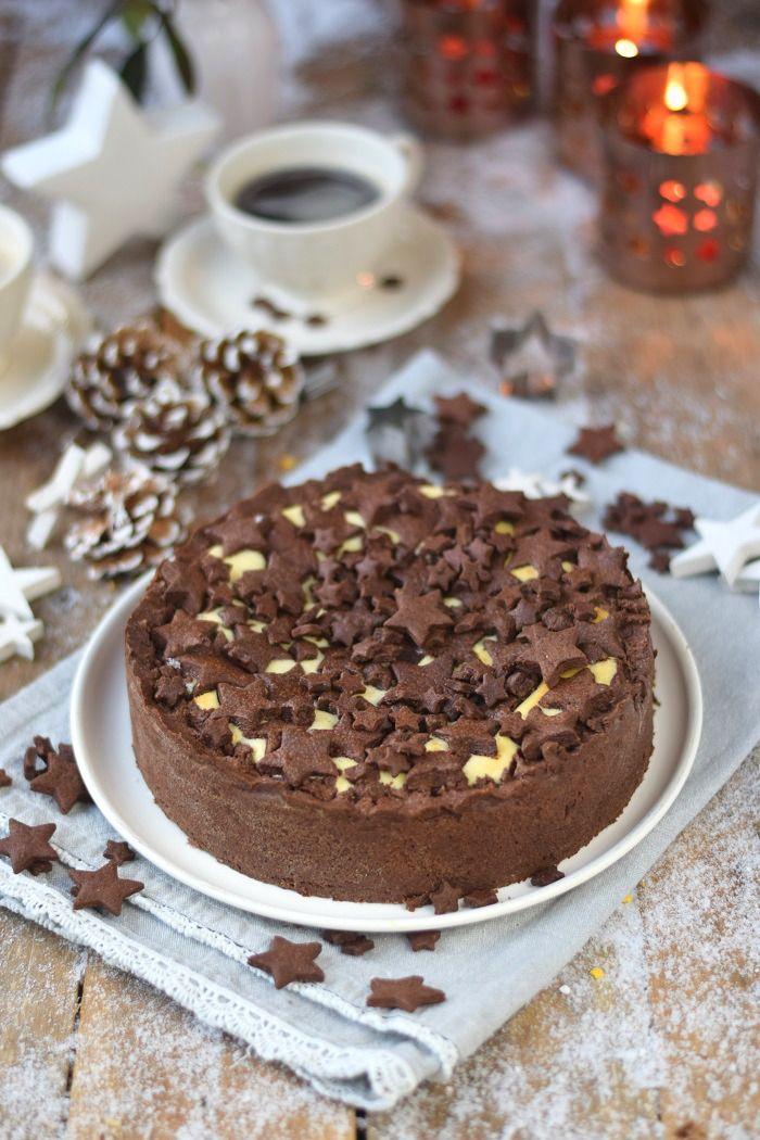Winterlicher Zupfkuchen - Baked Cheesecake with Chocolate Cookies | Das Knusperstübchen                                                                                                                                                                                 Mehr
