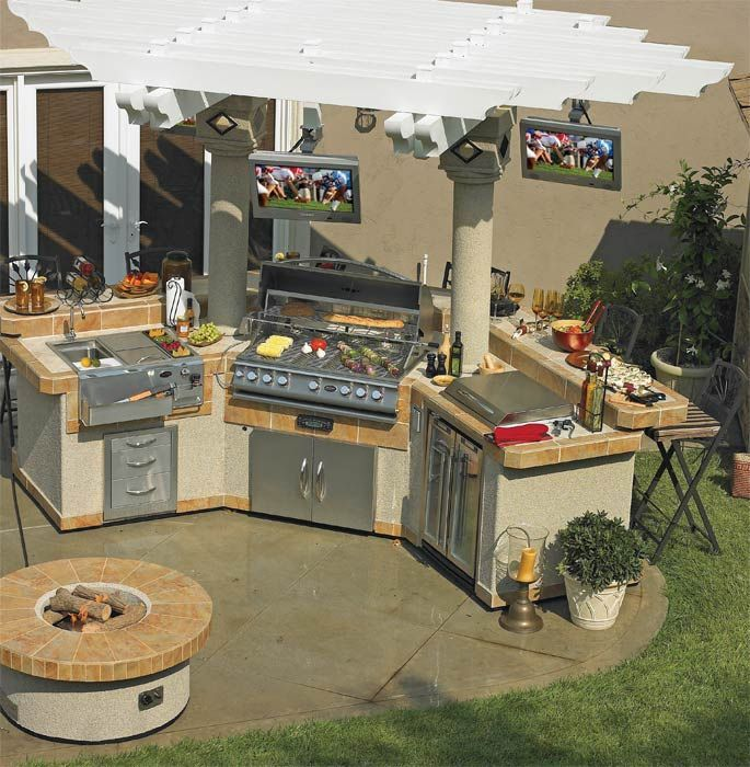 25 best ideas about bbq island kits on pinterest for Outdoor bbq island designs