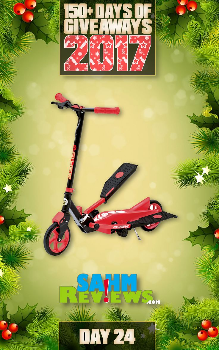 We're excited to be offering 150+ Days of Giveaways in conjunction with our Holiday Gift Guides.   One lucky SahmReviews.com winner will receive a Y Flyer Scooter from Yvolution (ARV $150)!