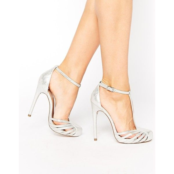 ASOS PATIENCE High Heels (1,200 MXN) ❤ liked on Polyvore featuring shoes, sandals, silver, closed toe sandals, strappy high heel sandals, high heel shoes, snake sandals и high heels stilettos