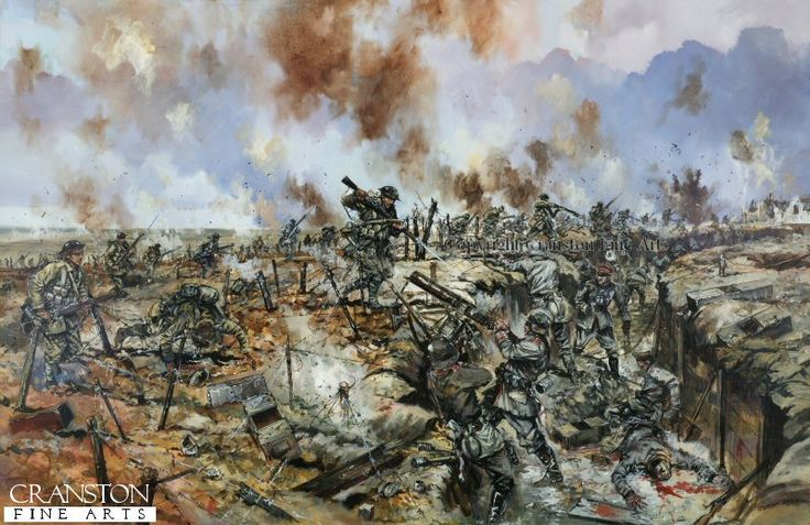 The Battle of the Somme - At the German Trenches by Jason Askew. Very few of the British soldiers made it through the barbed wire defences, and even fewer to the German trenches. By the end of the first day the British losses were nearly 60,000 men.