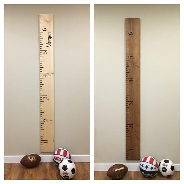 Growth Chart Rulers 6' long. Can be personalized. Visit our Facebook page at www.facebook.com/PepperCreekCraftsmanCo