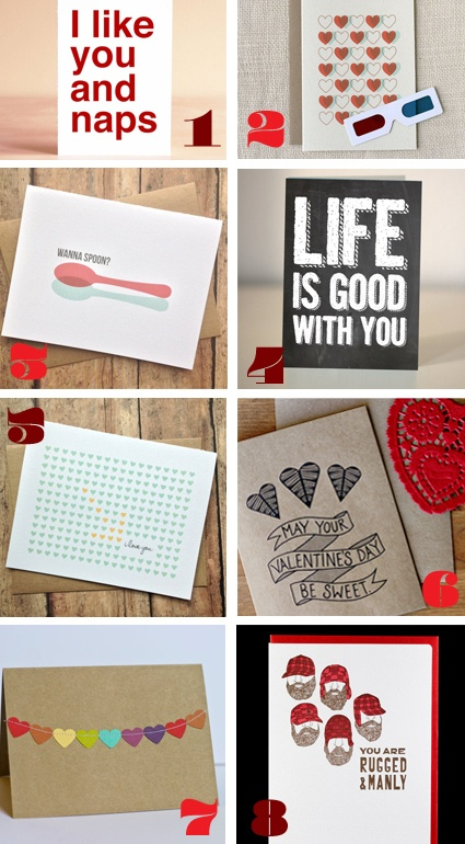 Omg jessie its your perfect vday card!!!  The bottom right one!