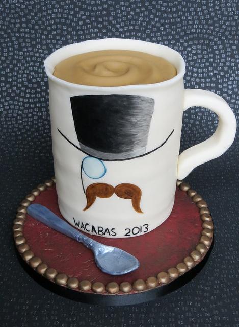 Mug Of Tea Birthday Moustache Monicle Top Hat Gent Man Cup