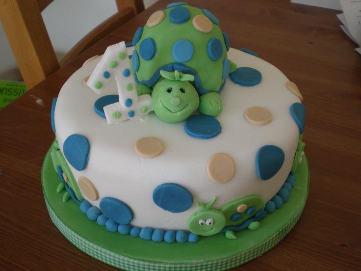 Turtle cake for a 1st Birthday www.kitchenfairiesleeds.co.uk