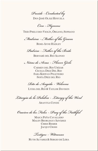 The 25 best wedding program examples ideas on pinterest programs for a wedding spanish wedding program examples catholic wedding program wedding thecheapjerseys Choice Image