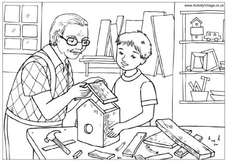 preschool family themed coloring pages - photo#8