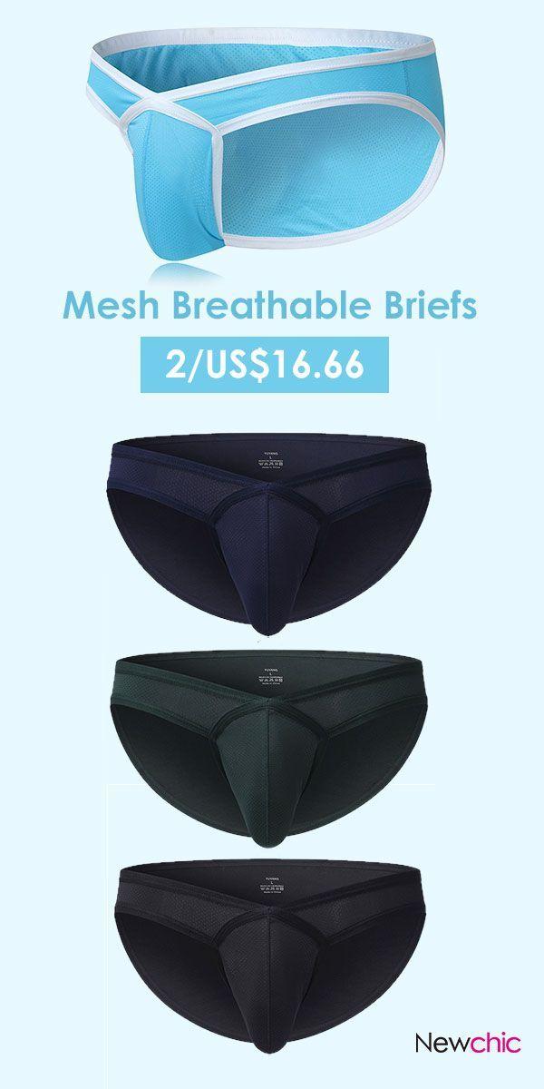 7aa35cbd3879 Sexy Patchwork Mesh Breathable Underwear /Low Waist Nylon Briefs for Men