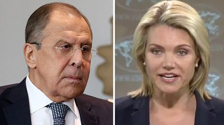"""'Don't lag behind real events': Lavrov hits back after State Dept says he 'gets out ahead' https://tmbw.news/dont-lag-behind-real-events-lavrov-hits-back-after-state-dept-says-he-gets-out-ahead  Russian Foreign Minister Sergey Lavrov has advised the US State Department to keep up with events after spokesperson Heather Nauert said that Lavrov """"likes to talk a lot and get out ahead.""""During a daily State Department press briefing on Tuesday, Nauert was asked if there was any news on the…"""