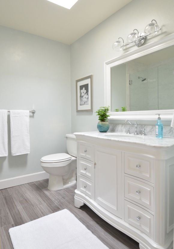 1000 images about bathrooms on pinterest old bathrooms for Neutral light blue paint