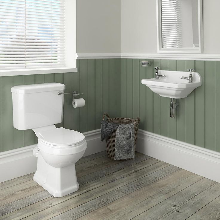Carlton 515mm Traditional Cloakroom Basin (2 Tap Hole   Depth 300mm) Part 62