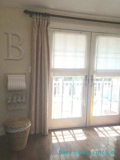 This is how I am thinking of French Doors with blind for the front room & 25+ best ideas about Front door curtains on Pinterest | Door ... Pezcame.Com