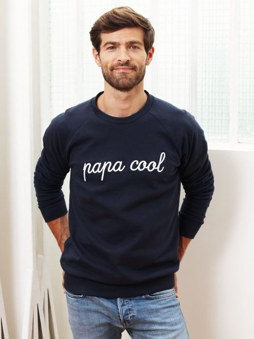 Le sweat Papa Cool - charbon EMOI EMOI - Photo