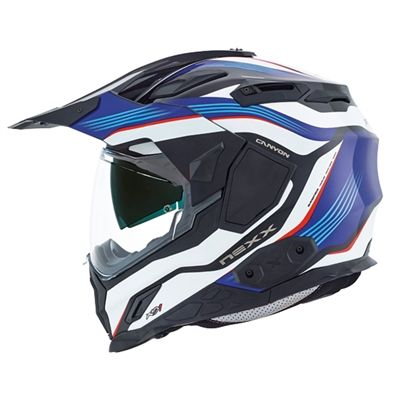 The new 2017 Nexx X.D1 Canyon Blue Motorcycle Helmet is packed with features and is a great new redesign of modern dirt bike helmets.