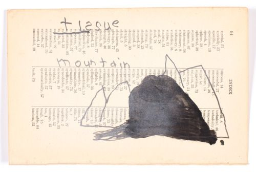 tissue mountain8″ x 5 1/8″charcoal, ink on paper6.2016w. tucker...
