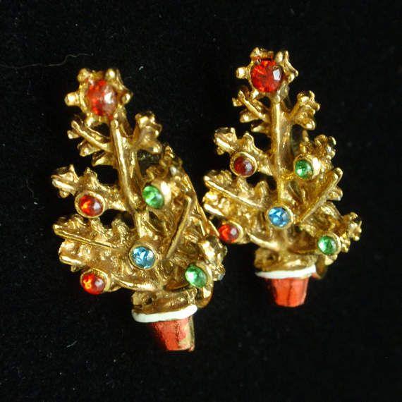 Christmas Topiary Earrings Enamel