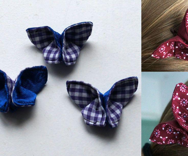These butterfly hair clips are made out of rectangular pieces of fabric, folded into little butterflies. It's origami with fabric! This makes them quick and easy to make. I got the idea from this website, with lots of pretty pictures of the end result and just a few of the origami process. From their pictures I sort of got how it's made, and then I added some stitches in the folding process to make life easier. In this instructable, I'll show you how to make them yourself. To make these…
