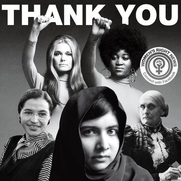 Happy Women's History Month! Thanks to all the women who fought for female equality--and those who are still fighting.