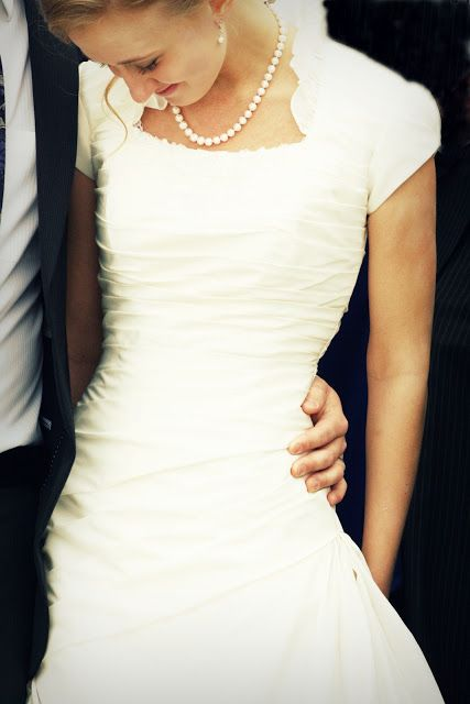 #Modest #wedding dress with sleeves.
