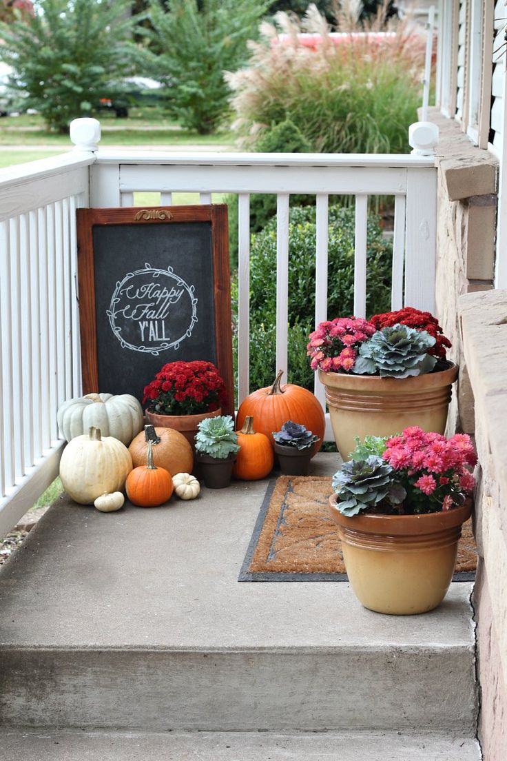 Doors pleasant fall decorating ideas for outside pinterest autumn - Our Fall Porch 2013 Fall Porch Decorating Ideas Love Of Family Home