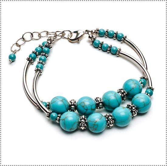 Turquoise Twin Bracelet Kit - Jewelry Store