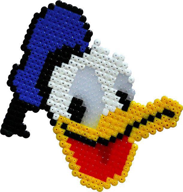 Donald Duck hama perler beads by esapekka