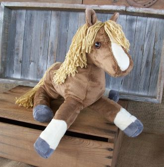 Floppy Filly Plush Horse Stuffed Animal Softie | YouCanMakeThis.com