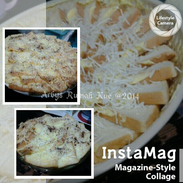 Cheese bread hot pudding butter