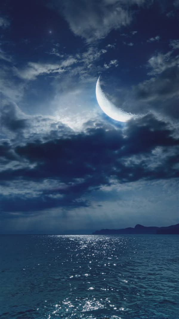 Water Ripple Clouds Moon Sea Night View Live Wallpaper Scenery Waterripples Water Ripple Clouds Moon Sea Night View Live Moon Sea Night Sky Wallpaper Scenery