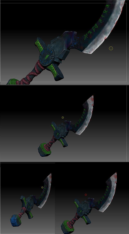 demon blade - zbrush on Behance