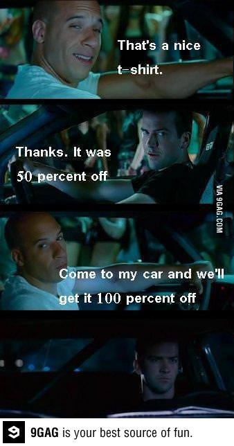 That was unexpected. Fast and furious is always awesome.