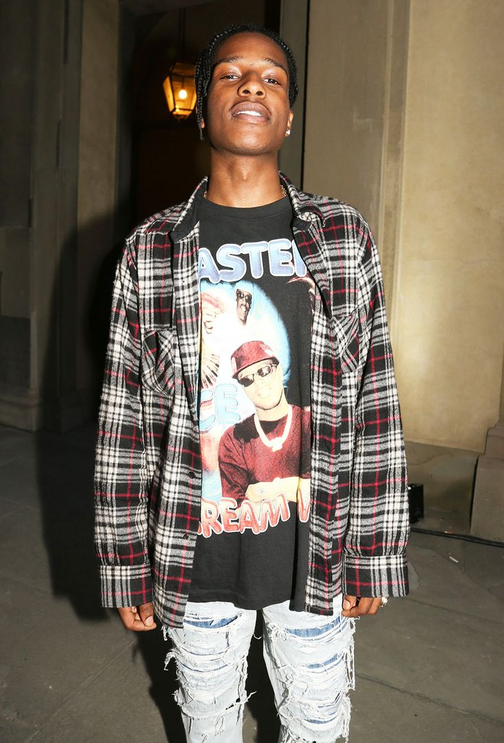 A$AP Rocky in his finest 90s grunge get-up: so hot ...