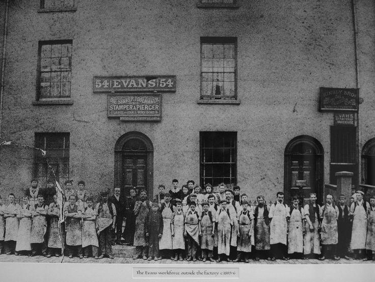 Workers T B J Evans silverware factory in the Jewellery Quarter Hockley Birmingham U K. Dated 1893.