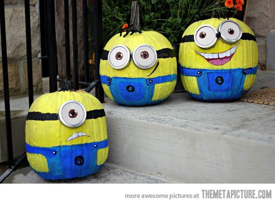 Minion Pumpkins - very cool idea