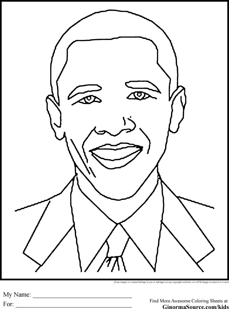 Black History Coloring Pages Obama | School stuff | Pinterest